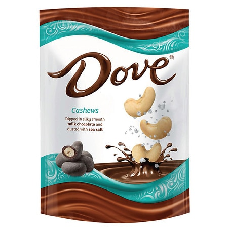 Dove Chocolate Covered & Sea Salt Dusted Cashew Nuts - 5 oz.