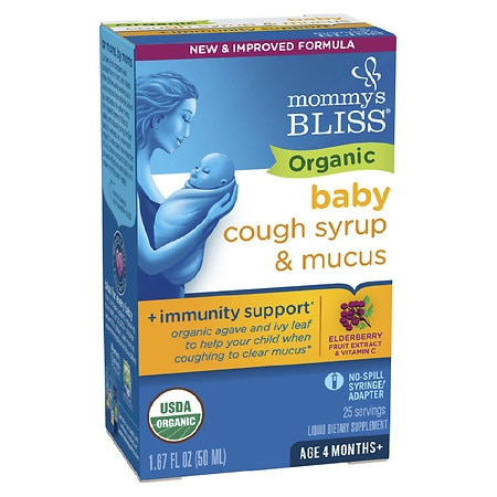 Mommy's Bliss Organic Baby Cough Syrup & Mucus Relief Day Time + Immunity Boost - 1.67 fl oz