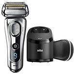 Braun Series 9 9290cc Men's Electric Shaver Wet/ Dry Razor with Clean & Charge Station Silver