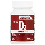 Walgreens Vitamin D3 2000 IU Softgels