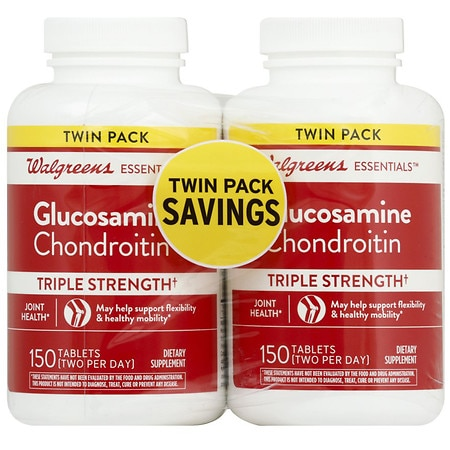 Walgreens Walgreens Glucosamine Chondroitin, Triple Strength, Tablets, 2 Pack, 150 Count - 150 ea x 2 pack