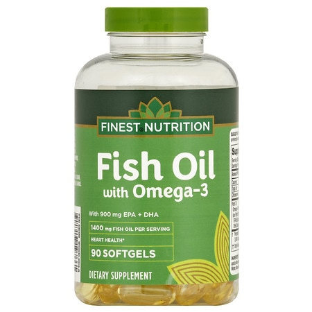 Finest Nutrition Fish Oil 1400 mg with 900 mg of Omega-3 Softgels - 90 ea