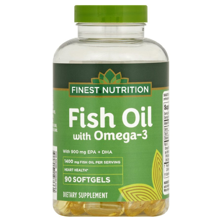 c9b6e5607deb Finest Nutrition Fish Oil 1400 mg with 900 mg of Omega-3 Softgels ...