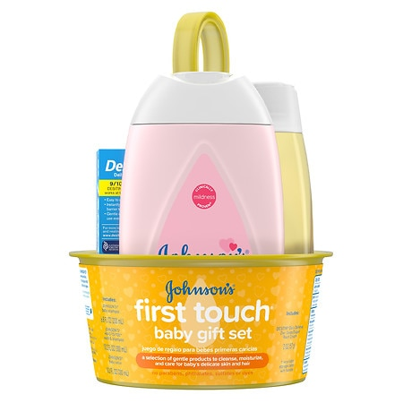Johnson's Baby First Touch Gift Set, Baby Bath & Skin Products - 1 ea