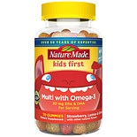 Kids First Multivitamin With Omega-3 Gummies Strawberry, Lemon & Orange