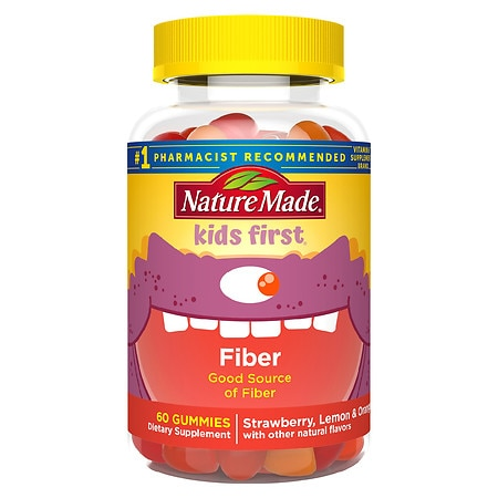 Kids First Fiber Gummies Assorted Fruit Flavors - 60 ea