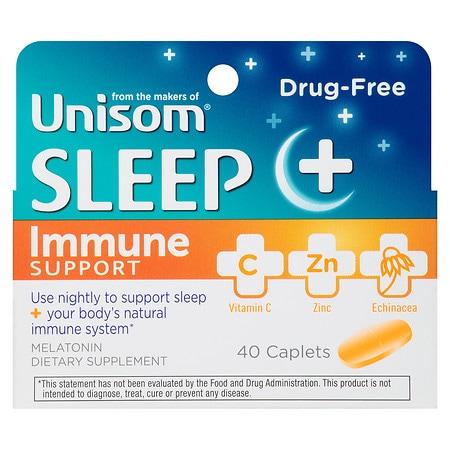 Unisom Sleep + Immune Support Caplets - 40 ea