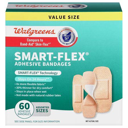 Walgreens Smart-Flex Adhesive Bandages - 60 EA