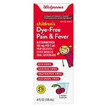 Walgreens Children's Pain Relief Suspension Liquid Dye-Free Cherry Dye free