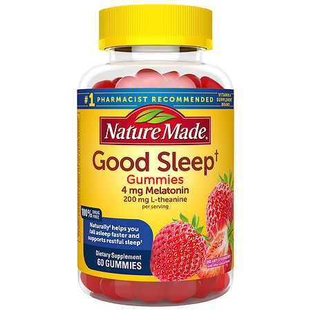 Nature Made Good Sleep Adult Gummies Dreamy Strawberry - 60 ea