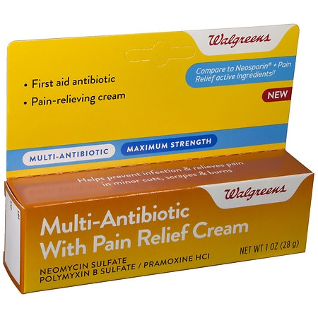 Walgreens Multi-Antibiotic With Pain Relief Cream - 1 oz.