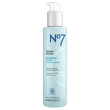 No7 Radiant Results Revitalizing Micellar Cleansing Water - 7 oz.