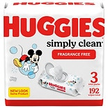 Huggies Simply Clean Fragrance-free Baby Wipes, Soft Pack, Alcohol-free Fragrance-free