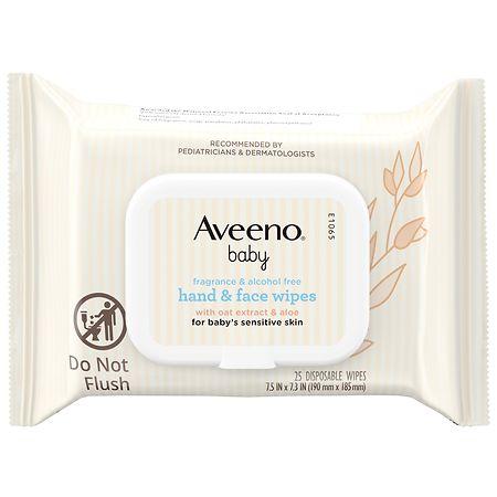 Aveeno Baby Hand & Face Wipes - 25 ea