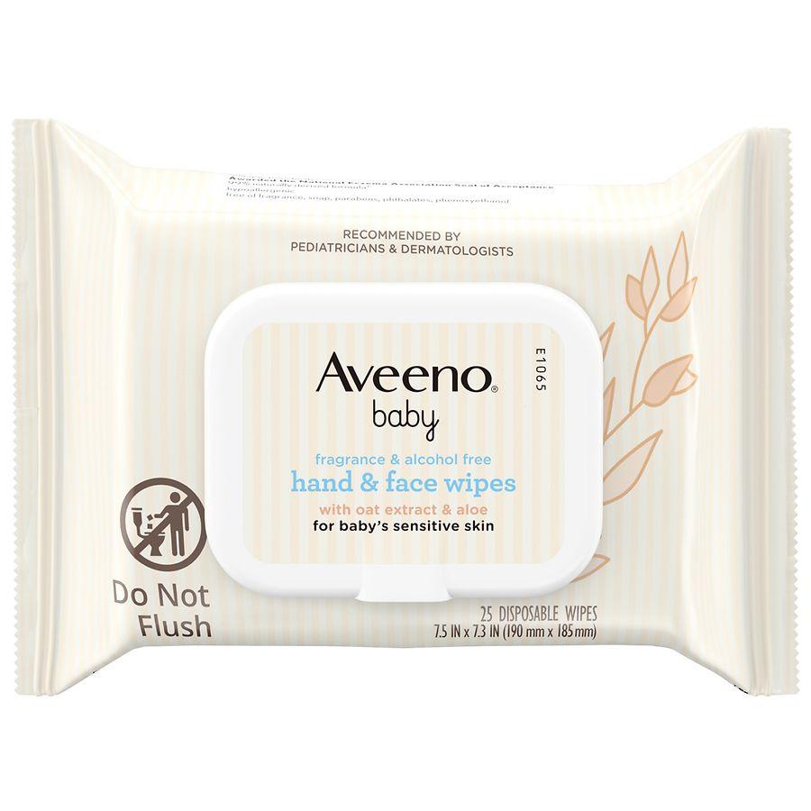 Aveeno Baby Daily Care Baby Wipes 72s 1 2 3 6 12 Packs