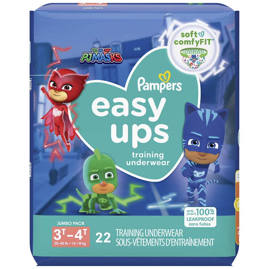 Pampers Easy Ups Training Underwear Boys Size 5 3t 4t Walgreens