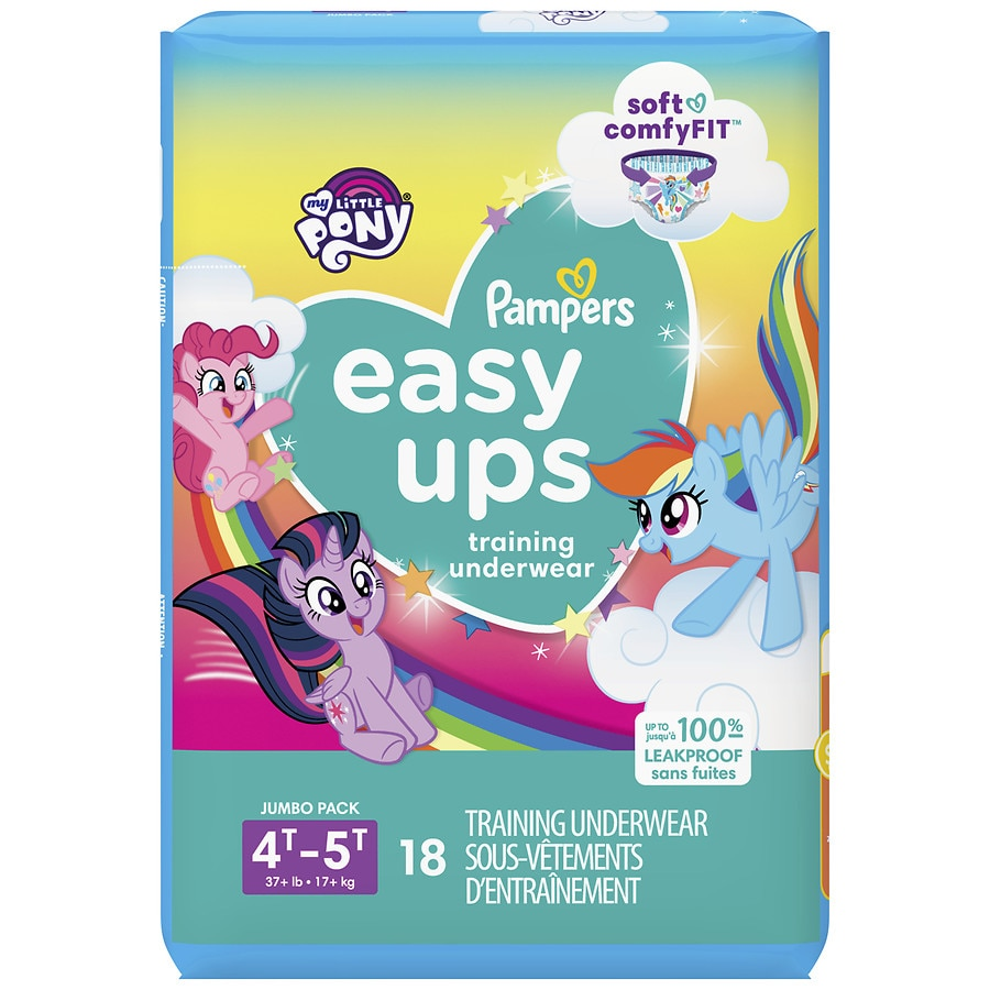 f04e46ca7bb Pampers Easy Ups Training Underwear Girls Size 6 4T-5T18ea