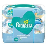 Pampers Baby Wipes Complete Clean Scented 3X Pop-Top Packs