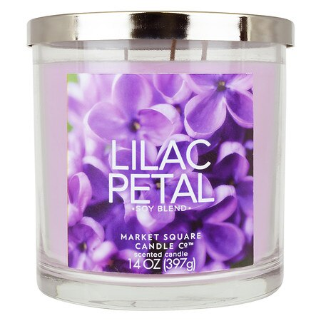 Market Square Candle Lilac Petal - 1 ea