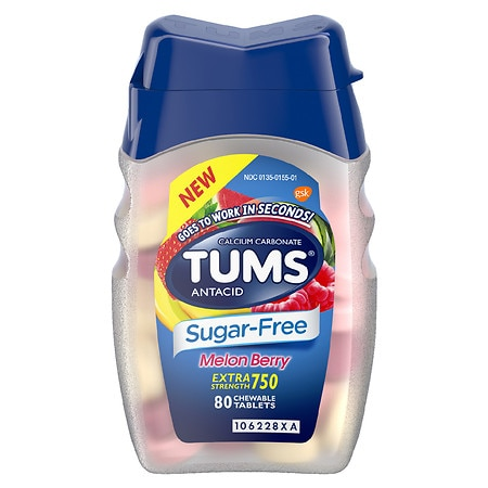 Tums Extra Strength Sugar-Free Antacid Chewable Tablets Melon Berry - 80 ea