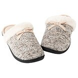 totes Women's Knit Memory Foam Slipper Oatmeal Heather