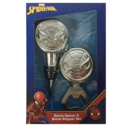 Marvel Spiderman Wine Stopper and Bottle Opener - 1 ea