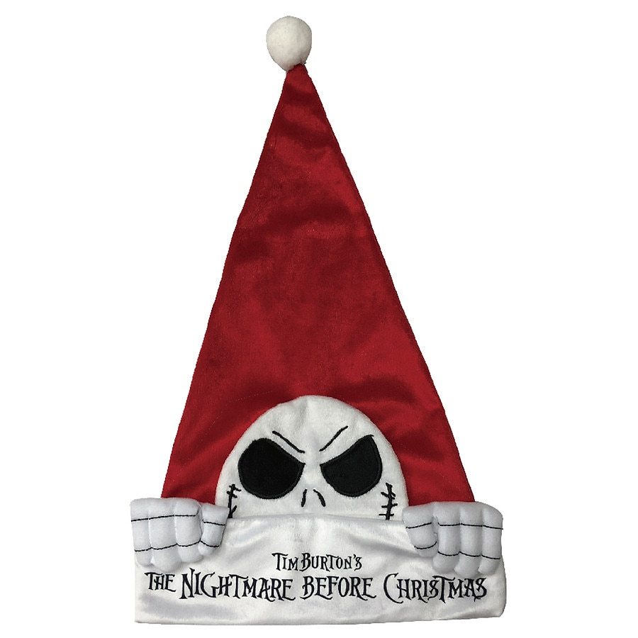 Disney Nightmare Before Christmas Jack Head Santa Hat | Walgreens