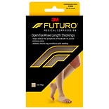 FUTURO Open Toe Knee Length for Men & Women, 71033EN Medium Beige