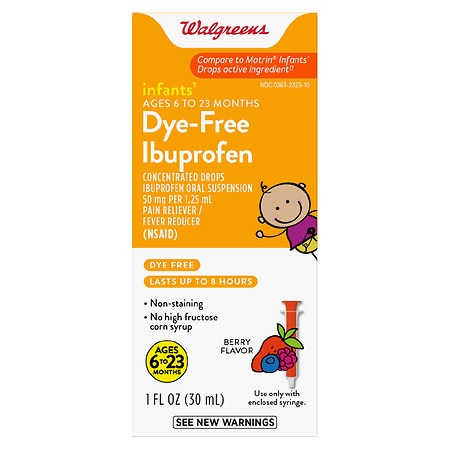 Walgreens Infants' Ibuprofen Concentrated Drops, Dye-Free Berry - 1 fl oz