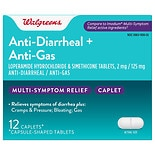 Walgreens Anti-Diarrheal + Anti-Gas Caplets