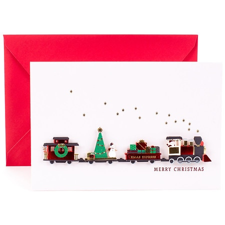 Christmas Train.Hallmark Signature Christmas Card Christmas Train