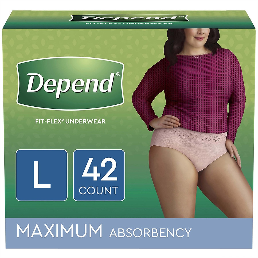20df8409a9d9 Depend Fit-Flex Incontinence Underwear for Women, Maximum Absorbency,  Large, Tan