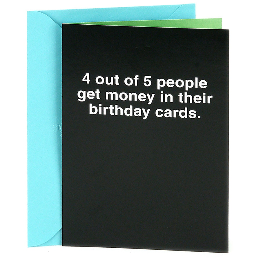 Shoebox Funny Birthday Card 4 Out Of 5 People Sarcastic Joke Black10 Ea