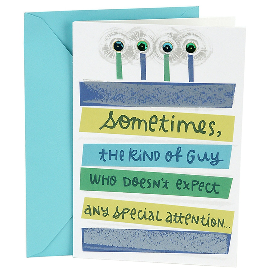 Hallmark Birthday Greeting Card For Him Special Attention10 Ea