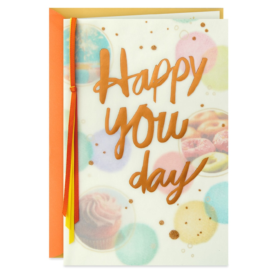 Hallmark Birthday Greeting Card Happy You Day10 Ea