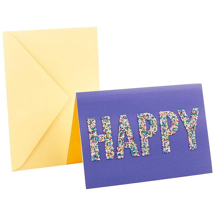 Hallmark Signature Birthday Greeting Card Happy Sprinkles Purple10 Ea