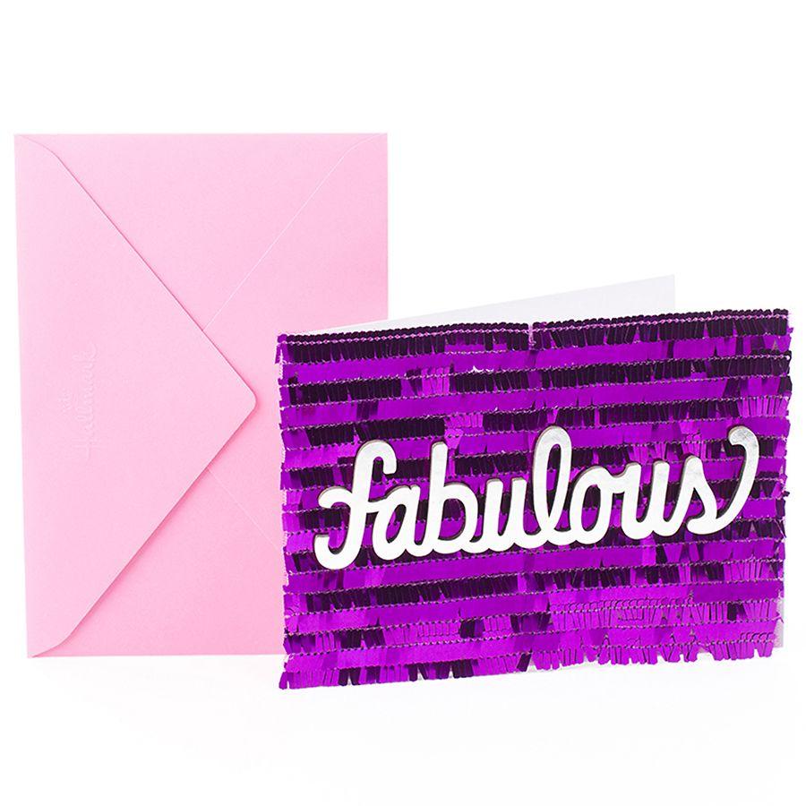 Hallmark Signature Birthday Card Fabulous Purple10 Ea