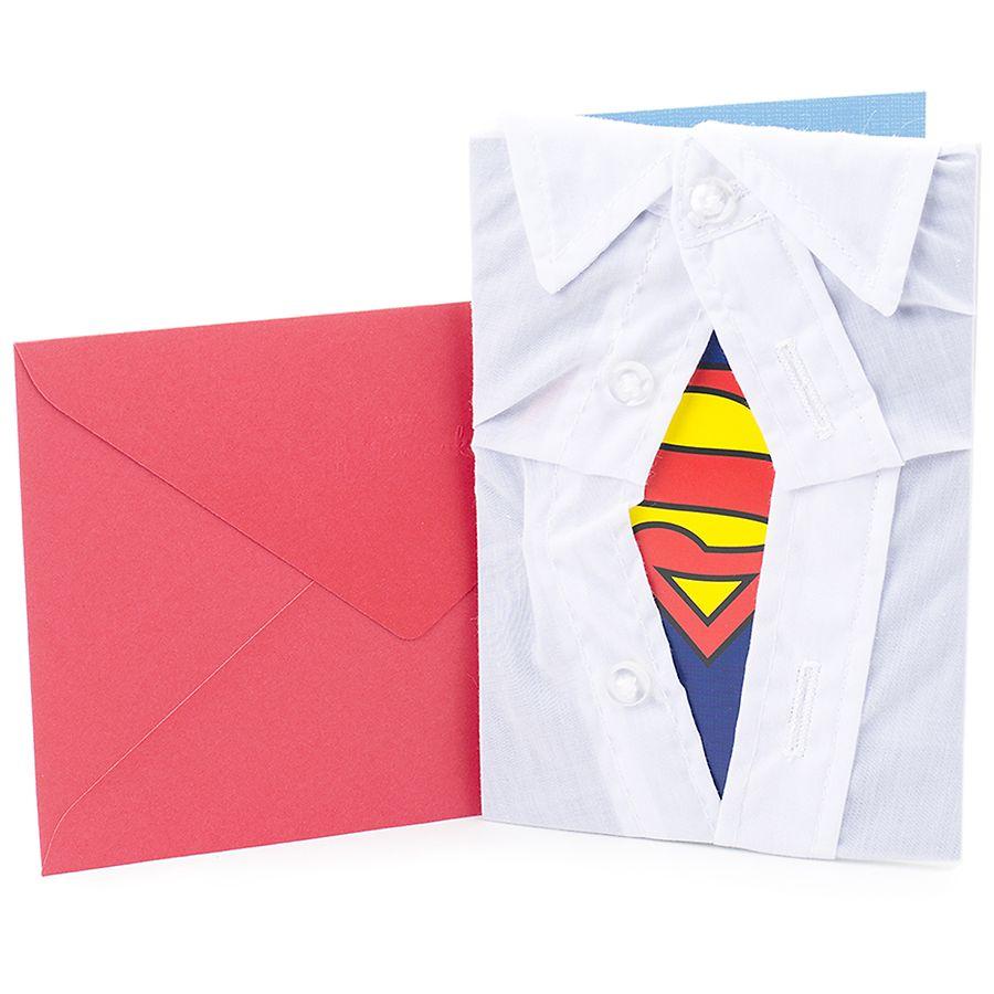Hallmark Signature Birthday Greeting Card Superman Silhouette White10 Ea