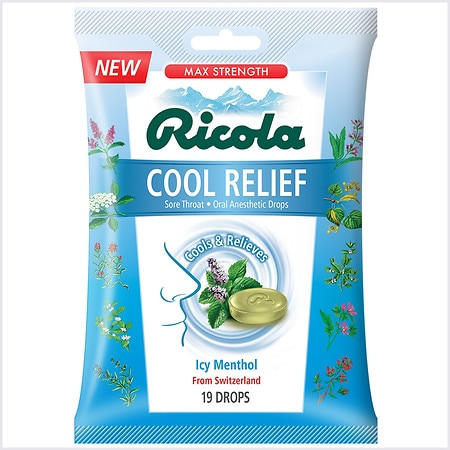 Ricola Cool Relief Cough Drops Icy Menthol - 19 ea x 19 pack