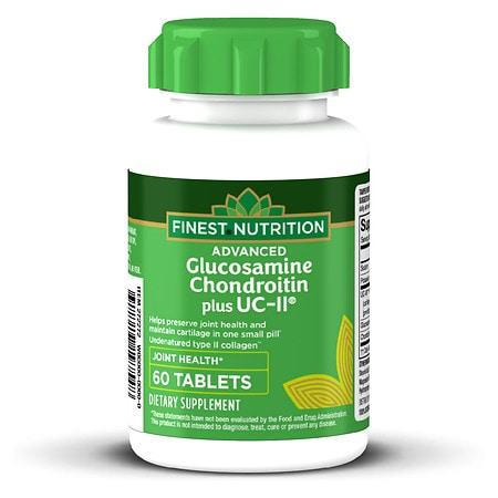 Finest Advanced Glucosamine & Chondroitin Plus UC-II Tablets - 60 ea