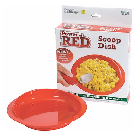 Power of Red Large Scoop Dish with Suction Bottom - 1 ea
