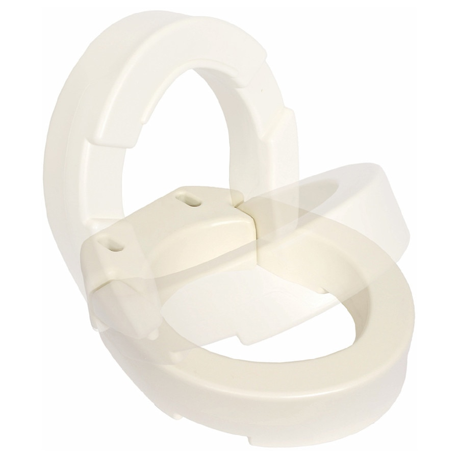 Essential Medical Hinged Toilet Seat Riser For Elongated