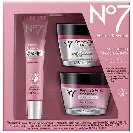 No7 Restore & Renew Skincare System - 1 ea