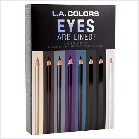 L.A. Colors 9 Piece Eyes Are Lined! Eyeliner Pencil Set - 1 ea