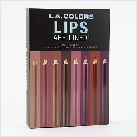 L.A. Colors 9 Piece Lips Are Lined! Lipliner Pencil Set - 1 ea