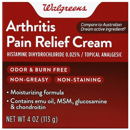 Walgreens Arthritis Pain Relief Cream - 4 oz.