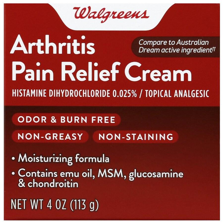 Walgreens Arthritis Pain Relief Cream Walgreens