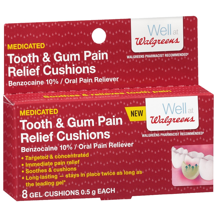 Well At Walgreens Tooth Gum Pain Relief Cushions Walgreens