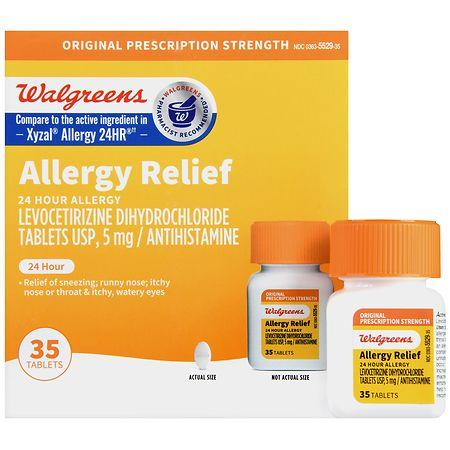 Walgreens Levocetirizine Tablets - 35 ea