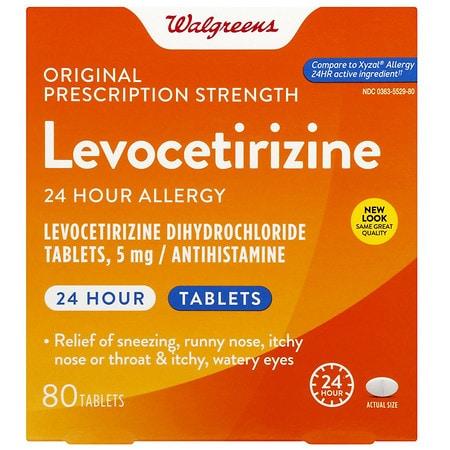 Walgreens Levocetirizine Tablets - 80 ea